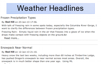 Oregon Weather Headlines